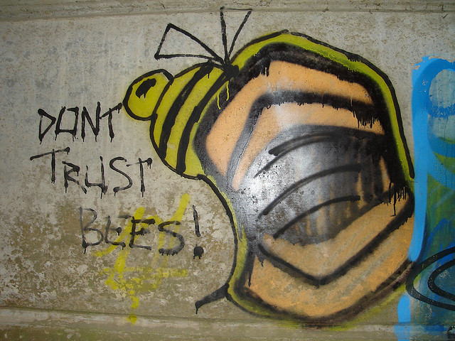 Graffiti Bee in Ironbridge