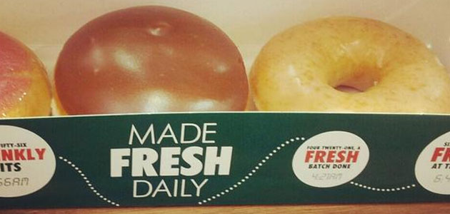 Krispy Kreme Made Fresh Daily in Telford.  pic: Christopher Dorning