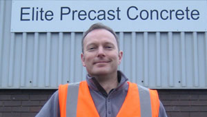 Owen Batham, Sales and Marketing Director at Elite Precast Concrete