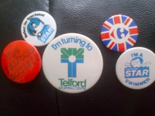 History: Telford in Button Badges