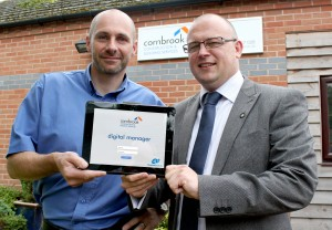 Matt Breakwell, MD of Cornbrook Construction, left, with Matt Flanagan, Director of BlueHub Solutions.