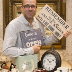 Owner of Victoria James, Michael Haines, celebrates continued success at the bigger, new store in Telford Shopping Centre