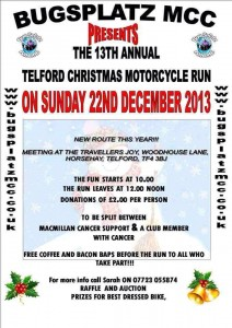Bugsplatz MCC Christmas Run @ Travellers Joy, Horsehay | Horsehay | United Kingdom