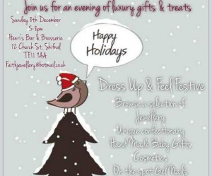 An Evening of Luxury Treats and Gifts @ Henris at Shifnal