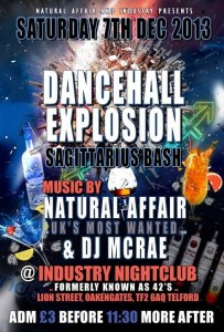 Dancehall Explosion @ Industry Nightclub | United Kingdom