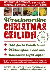 Wrockwardine Christmas Ceilidh @ Village Hall, Wrockwardine, nr Wellington | Wrockwardine | United Kingdom