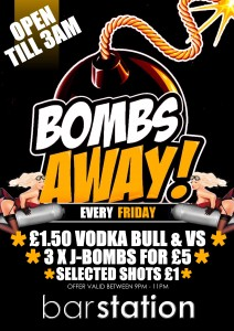 Bombs Away at Bar Station - DJ PARTY SESSION!  @ Bar Station | Wellington | United Kingdom
