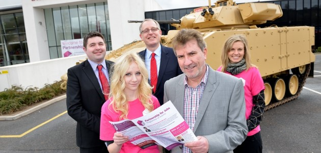 Cllr Shaun Davies, Lauren Weale, David Wright MP, Bob George & Kate Callis