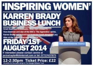Inspiring Women with Karren Brady @ Telford International Centre