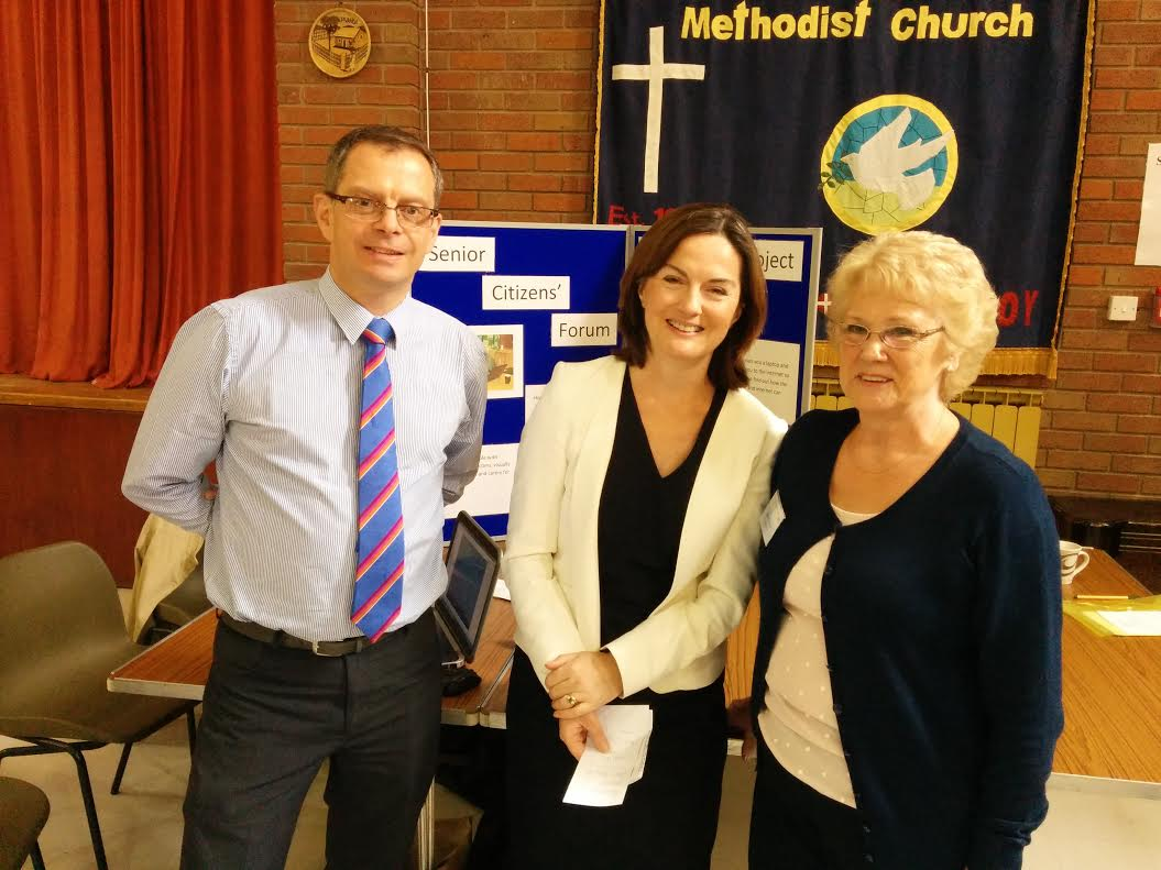 Lucy Allan MP with Susan Palmer, the chair of the forum, and Paul Gossage, the head of marketing at Ironbridge Museums.