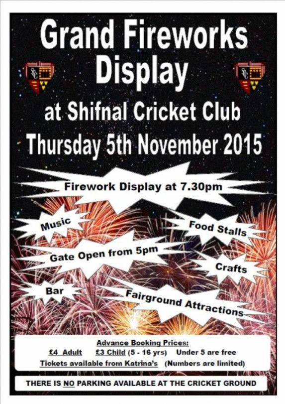 shifnal cc bonfire