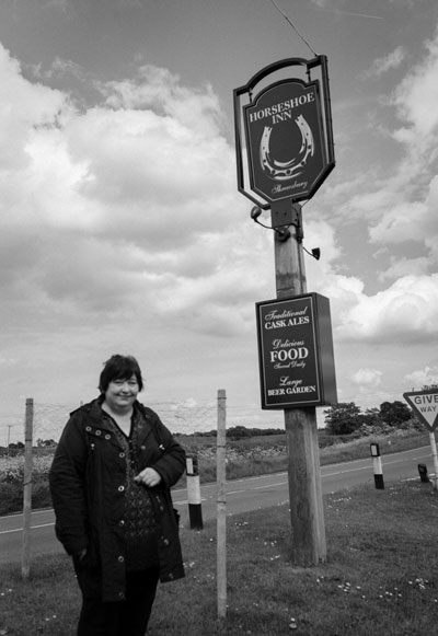 Val Walters outside the Horseshoes Pic: Steven Collins