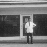 Angelo Cosco, outside Angelos Chip Shop in 1970