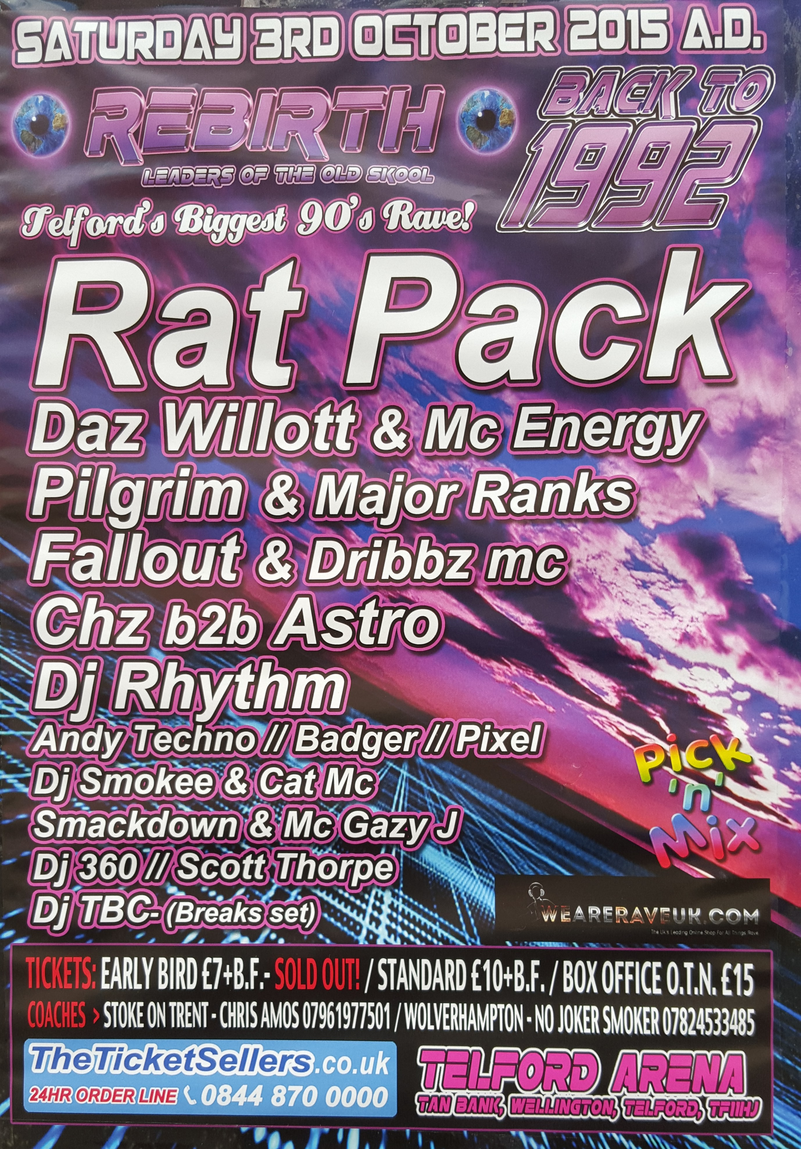Rat Pack: Telfords Biggest 90s Rave - Telford Live