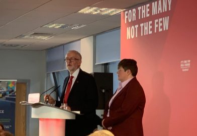 Jeremy Corbyn in Telford today