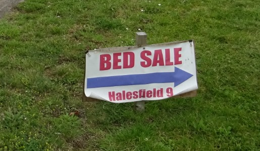 Signs of the Crime – Bed Business Busted for Fly Posting