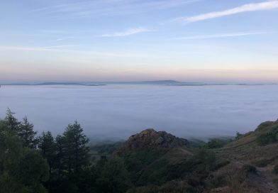 This is what the Wrekin looked like at 5.15am