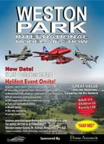 """Image may contain: text that says """"WESTON PARK INTERNATIONAL MODEL AIR SHOW ا: New Date! 17 18, October 2020 Helifest Event Onsite! Gates open 8am, show starts at 10am GREAT VALUE Saturday evening night show startsat7.30pm ONLINE BOOKING! 3 1 Model aircraft displays, jets scale Camping £70 Pre booked Full catering and licensed bar Off road and circuit model car racing Full size aircraft displays Model Boats On site camping Large trade line www.wetonparkmodelairshow.co.uk Tel: 01952 587298 or 07758895068 Weston-under-lizard, Nr Shifnal, Shropshire TF11 8LE *Subject availibility, COVID-19 Restrictions and weather permitting Adult £14 Children £6 Family £30 *SWAP MEET* Sponsored Aerotech"""""""