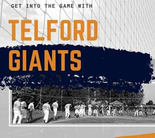 "May be an image of text that says ""GET INTO THE GAME WITH TELFORD GIANTS -44 96"""