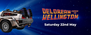 """May be a cartoon of text that says """"Nر DELDREAN TO COMES WELLINGTON Saturday 22nd May"""""""