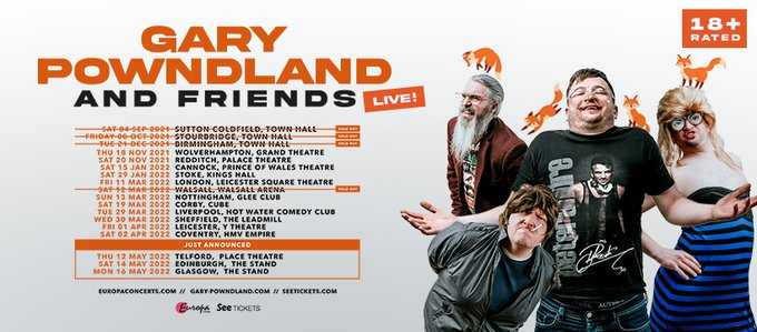 Gary Powndland, like the shop but spelt different, has added a date in Telford to his latest tour.